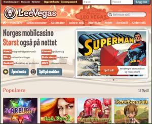 LeoVegas er et nytt og meget populær nettcasino.